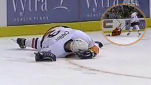 Уложил гиганта ударом клюшкой по шее. Как русский хоккеист Федоров отправил к врачам 206-сантметрового Хару: видео