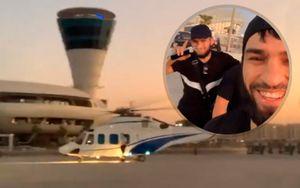 Хабиб, прихрамывая, сел на вертолет в Абу-Даби после боя с Гейджи