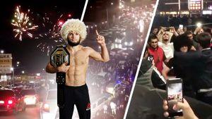 Как в Дагестане праздновали победу Хабиба: лезгинка на КАМАЗе, массовые гуляния и километровые пробки