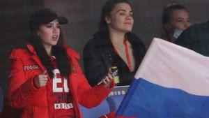 Загитова — о походе на матч сборной России по хоккею: «Получила невероятное удовольствие»