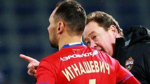 Слуцкий рассказал, как Игнашевич раньше срока вышел на замену в своем рекордном матче за сборную