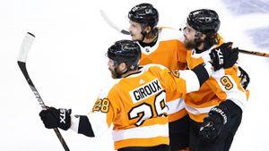 У русского защитника украли эффектный гол в плей-офф НХЛ. Проворов забил мощным броском, шайбу записали на партнера