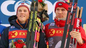 Россияне остались без медалей, Клэбо иЙохауг выиграли пасьюты. Кубок мира полыжным гонкам.