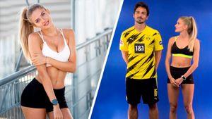 Алиса Шмидт провела тренировку в «Боруссии» и взорвала интернет. Огненные фото самой сексуальной спортсменки в мире