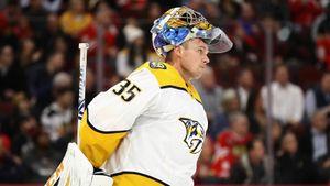 Финский вратарь трогательно простился с хоккеем. Три года назад Ринне оставил Василевского без «Везины»
