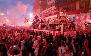Сборную Хорватии встретили как чемпионов мира. В Загребе было круче, чем в Париже