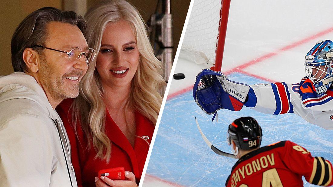 Шнуров на хоккее - рассмешил красавицу-ведущую «Авангарда» и расстроился поражению СКА: фото