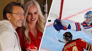 Шнуров на хоккее — рассмешил красавицу-ведущую «Авангарда» и расстроился поражению СКА: фото