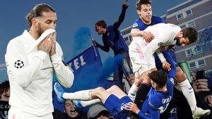 Как клуб Абрамовича вышел в финал ЛЧ. Фанаты «Челси» жгли фаеры, Начо лез на соперника с кулаками: фото