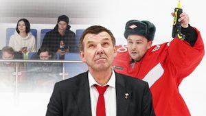 Вратарь «Спартака» расстрелял эмблемы соперников, футболист Кутепов привел на хоккей семью: фото