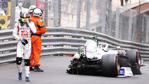 Финальная тренировка Гран-при Монако завершилась после аварии Мика Шумахера