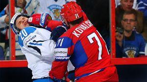 Знаменитая драка русского хоккеиста Ковальчука. Одним ударом отправил в нокаут и сломал нос финну Песонену: видео