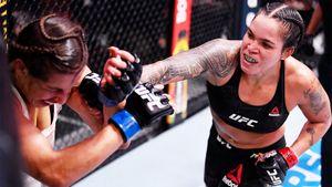 Вписалась в бой против лучшей женщины в UFC. Спенсер пережила 25-минутное избиение от Нуньес, но не сдалась