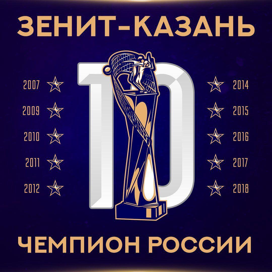 Сильнейшие в Российской Федерации: «Зенит-Казань» в пятый раз подряд стал чемпионом страны