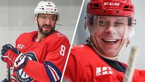 Овечкин забил с передачи Буре! Две главных русских звезды НХЛ сыграли вместе в придуманной Путиным Ночной лиге