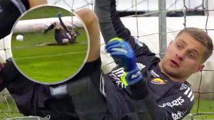 «Проснись, неудачник». В Швеции критикуют русского вратаря Васютина, пропустившего гол с центра поля