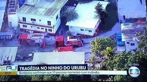 10 человек погибло при пожаре в учебном центре «Фламенго». За этот клуб играет Витиньо