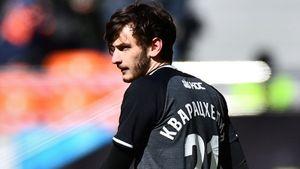 Кварацхелия второй сезон подряд признан лучшим молодым игроком РПЛ