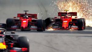 Авария Феррари, Гасли в топ-3, Хэмилтона лишили подиума, Квят в очках. Жаркий Гран-при Бразилии