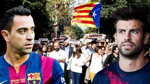 Класико могут перенести вМадрид из-за протестов вБарселоне. Вних участвовали Хави, Пике и«Барса»