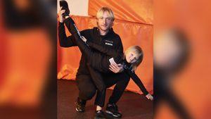 Плющенко показал прыжковую технику сына. «Карантин карантином, нотренироваться нужно всегда!»