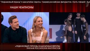 На Первом канале высмеяли фигуристку Пападакис. Она пыталась занять место русской пары на пьедестале