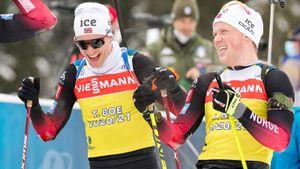 Норвегия выиграла смешанную эстафету на ЧМ, Россия — 9-я