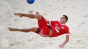 Сборная России по пляжному футболу победила Турцию на старте Евролиги