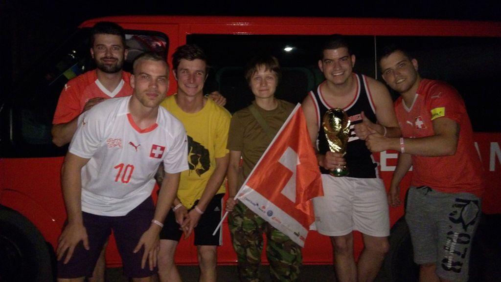 Болельщики Швейцарии случайно попали на захваченный Донбасс— Футбол 24