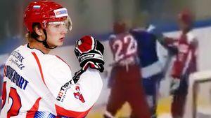 Уложил троих за 15 секунд. Знаменитая драка русского хоккеиста — Тимкин бил финнов за грубую атаку на его партнера