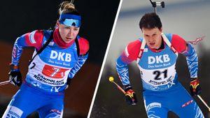 Россия внезапно выиграла Рождественскую гонку в Германии. В сильный снегопад Павлова и Елисеев классно стреляли