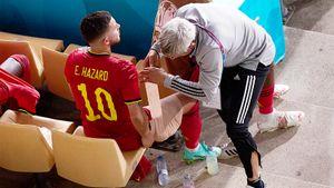 Кошмар Азара продолжается: с Португалией получил 7-ю травму за сезон и, кажется, больше не сыграет на Евро