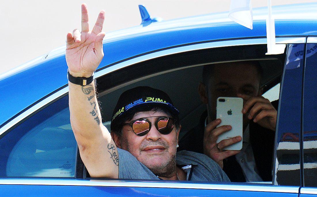 Марадона прибыл врасположение брестского «Динамо»
