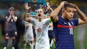 Дикие эмоции самого сумасшедшего дня Евро: промах Мбаппе, вылет Франции и несбывшаяся мечта Хорватии: фото