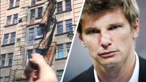 Аршавин показал место обрушения четырех балконов вСанкт-Петербурге: видео
