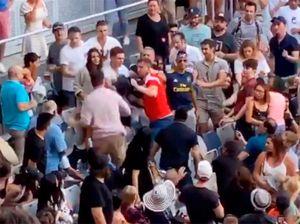 Перед матчем между Хачановым иКирьосом натрибунах подрался российский болельщик: видео