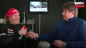 Губерниев взял необычное интервью у биатлонистки Кузьминой. За весь эфир она не произнесла ни слова