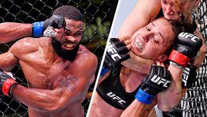 Экс-чемпион Вудли получил 82 удара в голову, а Чукагян 15 минут била сестру Шевченко. Каким был UFC в Вегасе