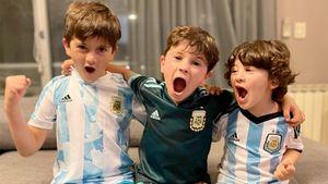Дети Месси эмоционально спели в честь сборной Аргентины. Милое видео выложила его жена после финала Кубка Америки