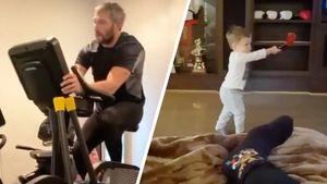 Овечкин пьет пиво, крутит велотренажер и тренирует сына. Карантин главной русской звезды НХЛ