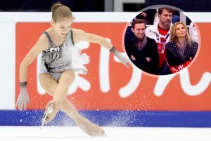 Трусова рассмешила зрителей итренеров, упав налед еще доначала своего проката наГран-при России