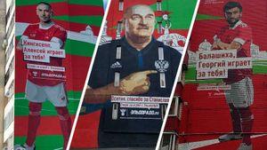 Черчесову и игрокам сборной России посвятили масштабные граффити в их родных городах