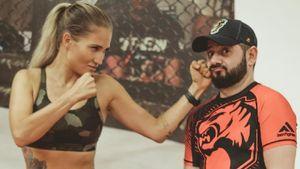 Комик Галустян тренируется с самой красивой русской девушкой ММА. Его тренер уже бросил вызов Хабибу