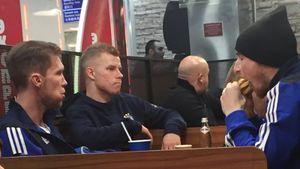 Игроки БАТЭ поели бургеров после победы над «Арсеналом». Но Глеб нам все объяснил