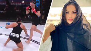 Красавица из «Ахмата» выиграла 1-й бой в США. Авсарагова оформила нокаут за 29 секунд