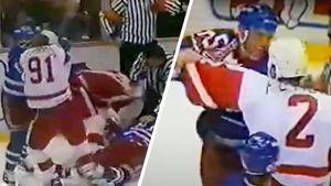 Скандальная драка русских хоккеистов в США. Фетисов и друзья по «Детройту» бились с «Рейнджерс» «стенка на стенку»
