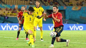 Линделеф признан лучшим игроком матча Испания— Швеция