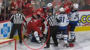 Свечников уложил на лед агрессивного канадца. Перед этим русский талант нарисовал гениальный ассист