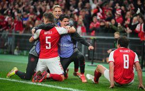 Дания победила Австрию и досрочно вышла на чемпионат мира