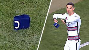 Брошенную Роналду повязку в матче с Сербией продали за 64 тыс. евро